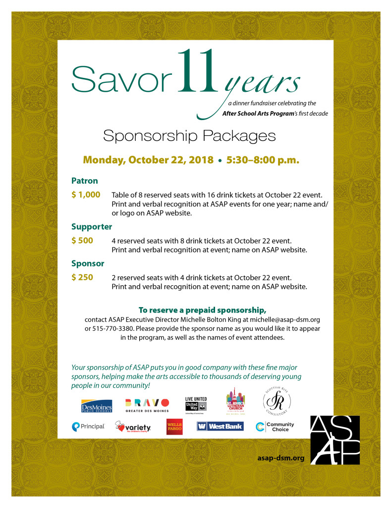 ASAP Savor Sponsorships